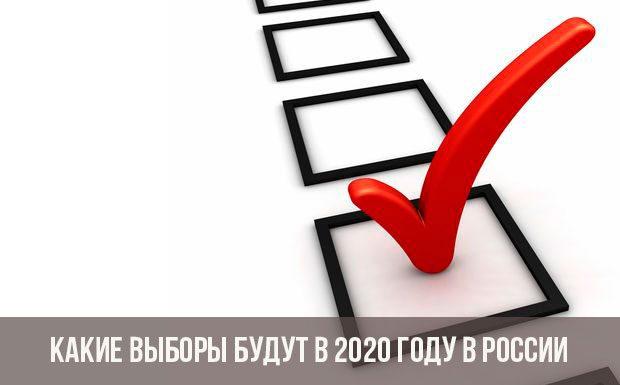 Какие будут выборы в 2020 году в России?